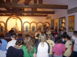 Campers attend Little Compline